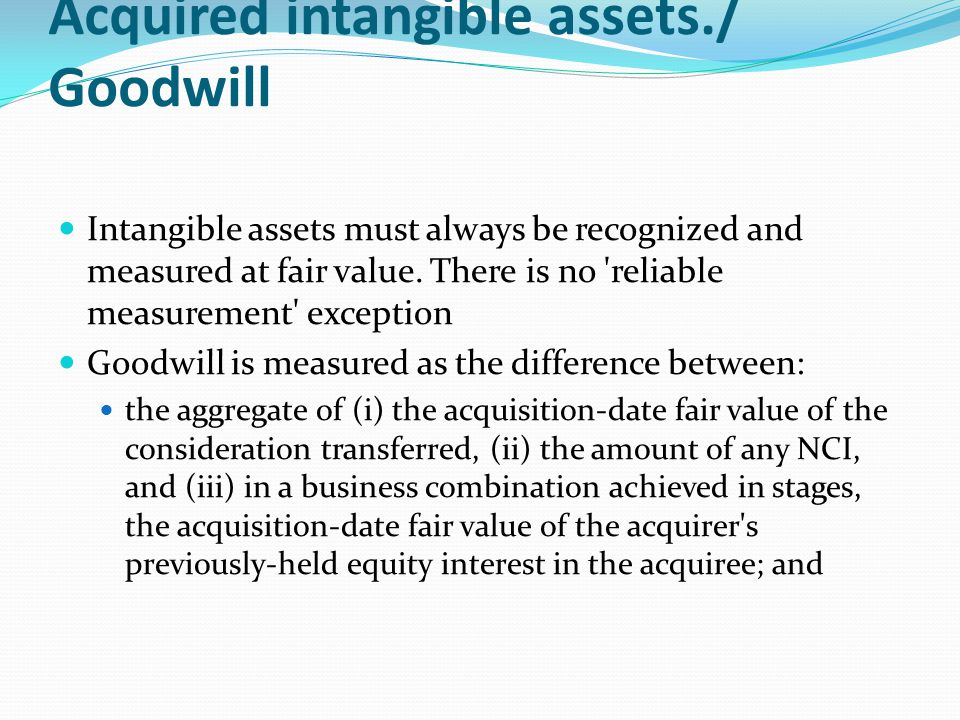 Acquired intangible assets./ Goodwill