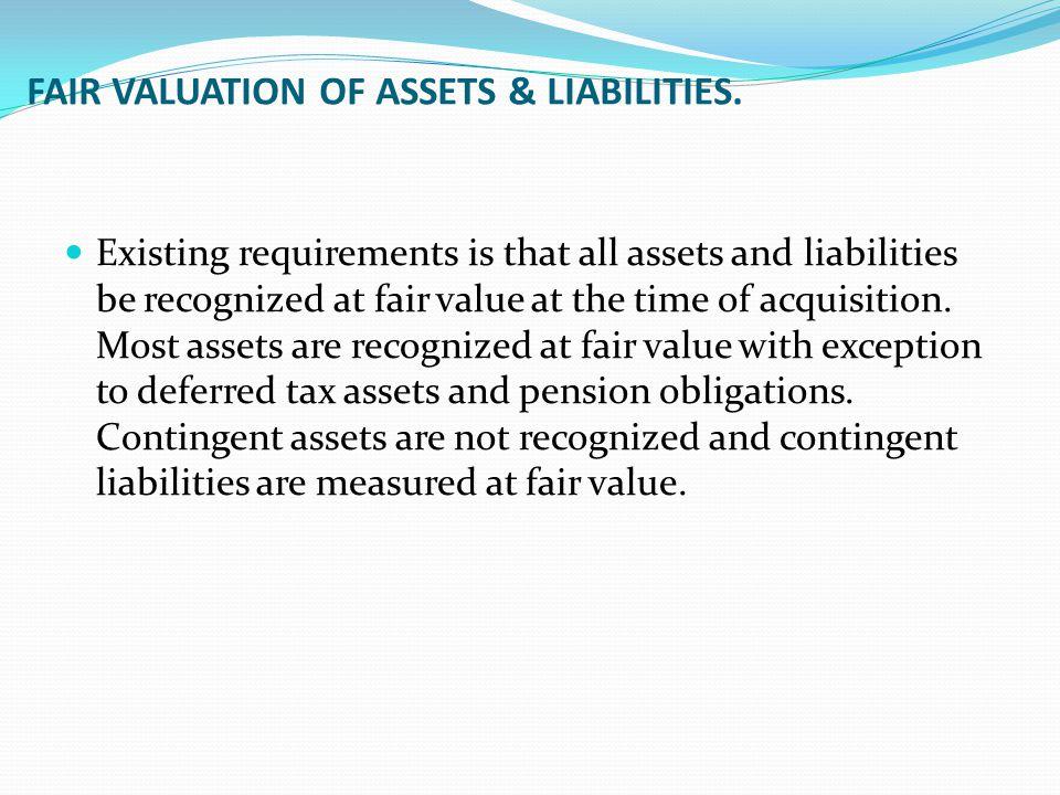 FAIR VALUATION OF ASSETS & LIABILITIES.