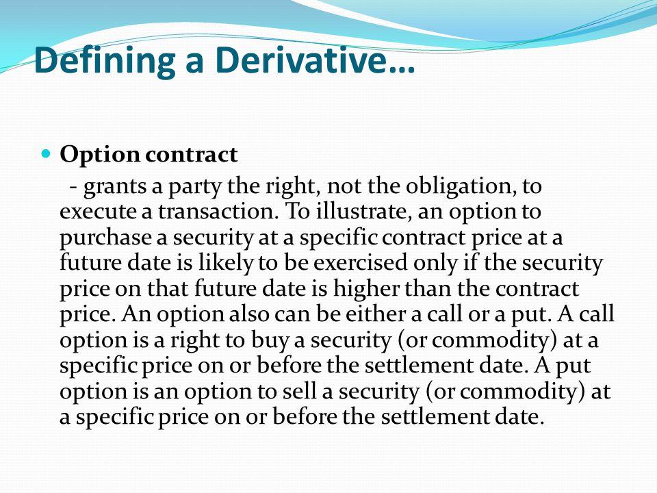 Defining a Derivative…