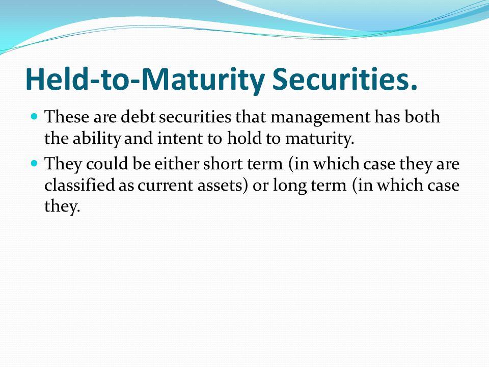 Held-to-Maturity Securities.