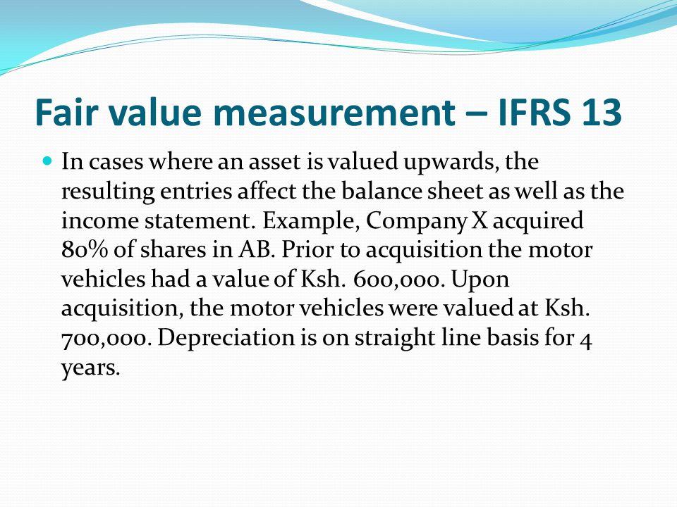 Fair value measurement – IFRS 13