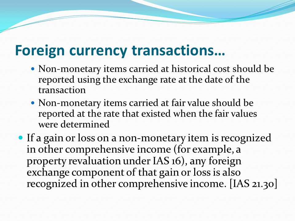 Foreign currency transactions…