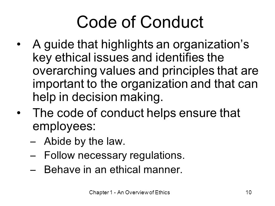 code of ethics overarching review This review concluded that a code of ethics should be produced to draw together the university's existing ethical  overarching guide to ethical conduct.