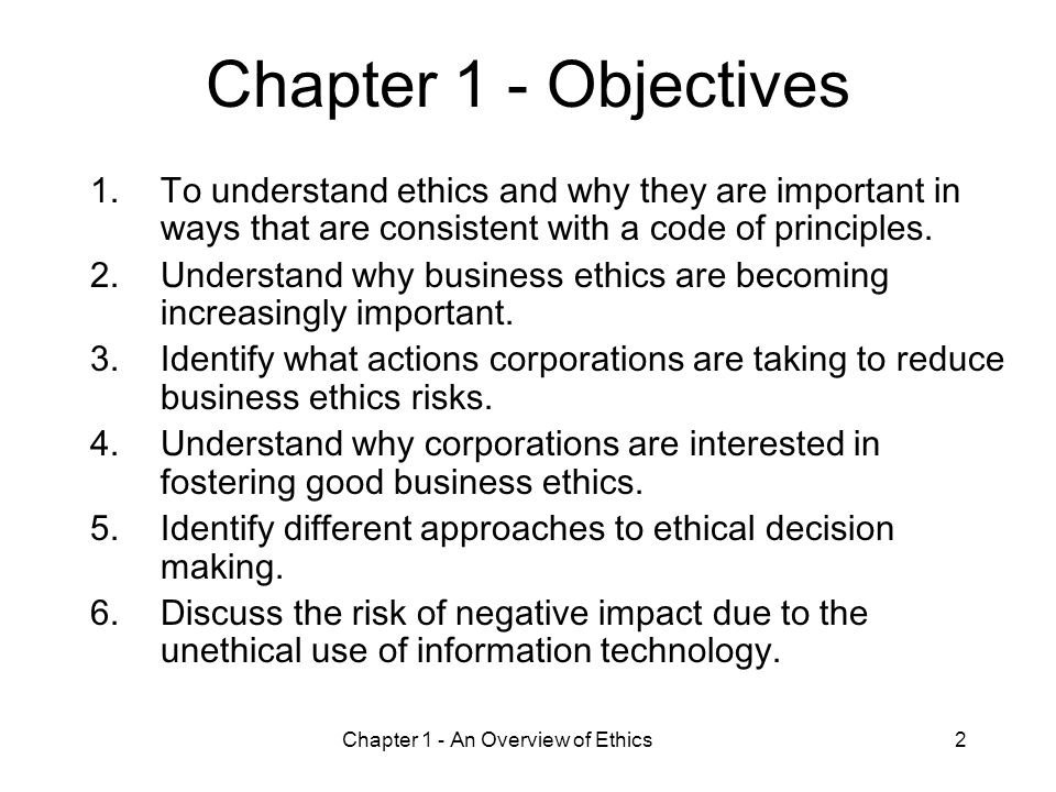 Ethics in information technology chapter 1 ppt