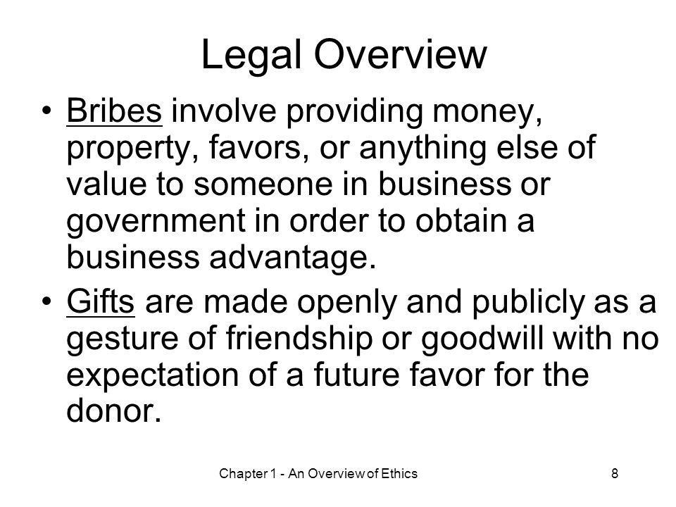 Chapter 1 - An Overview of Ethics