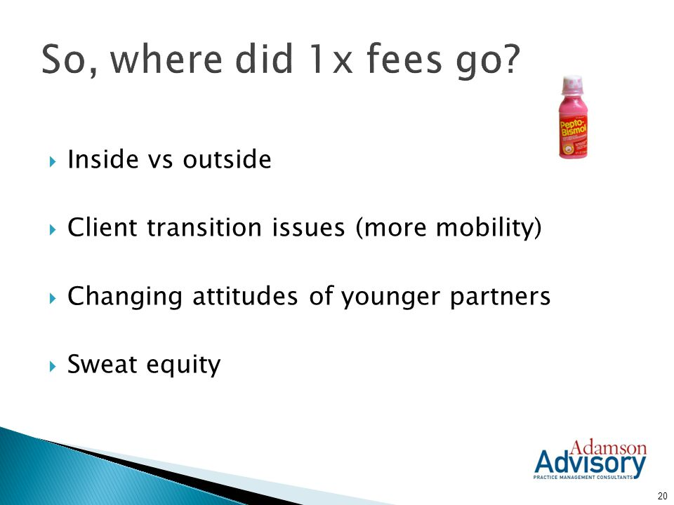 So, where did 1x fees go Inside vs outside