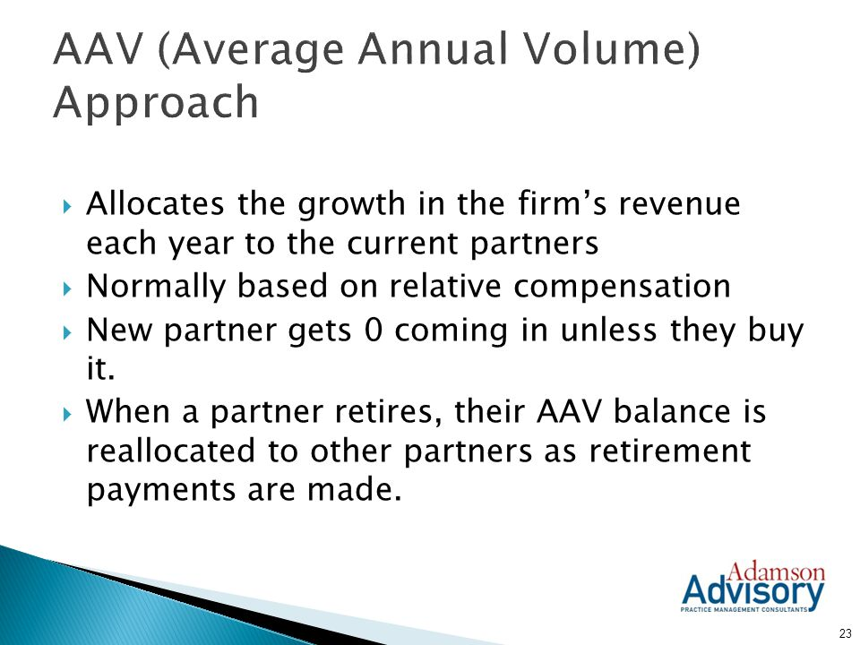 AAV (Average Annual Volume) Approach