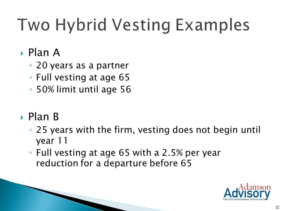 Two Hybrid Vesting Examples