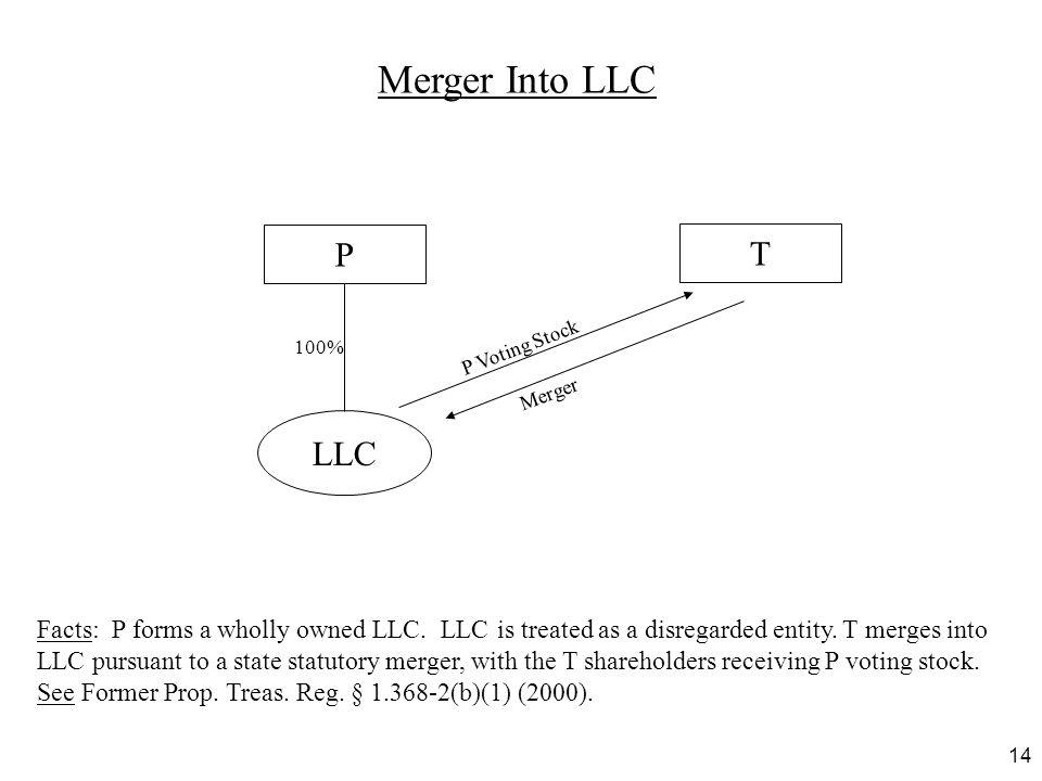 Merger Into LLC P. T. 100% P Voting Stock. Merger. LLC.