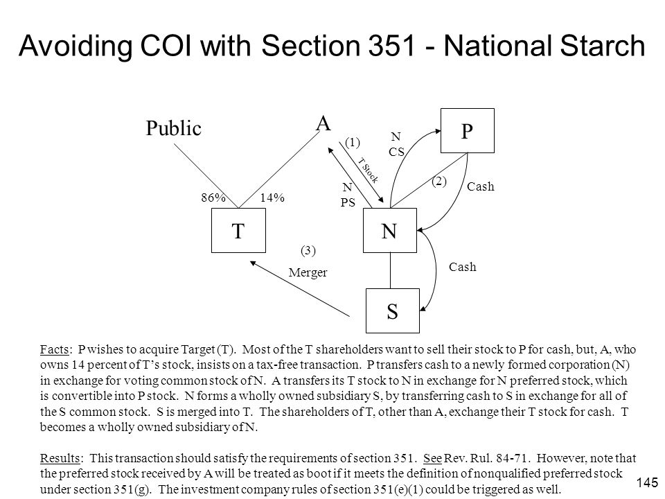 Avoiding COI with Section 351 - National Starch