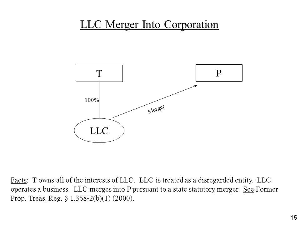 LLC Merger Into Corporation