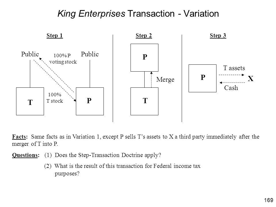 King Enterprises Transaction - Variation