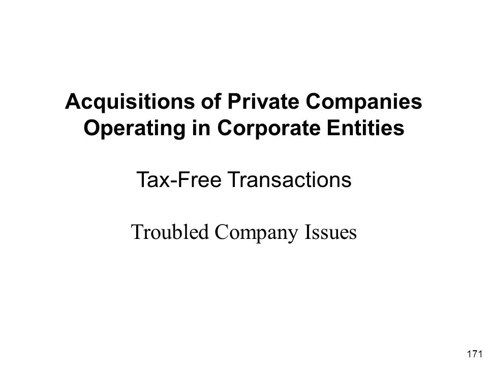 Troubled Company Issues