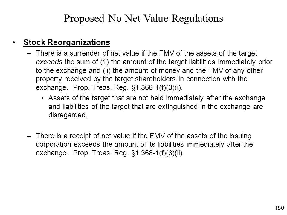 Proposed No Net Value Regulations
