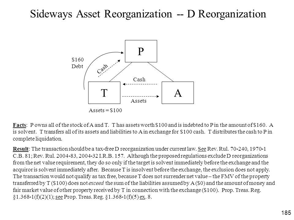 Sideways Asset Reorganization -- D Reorganization