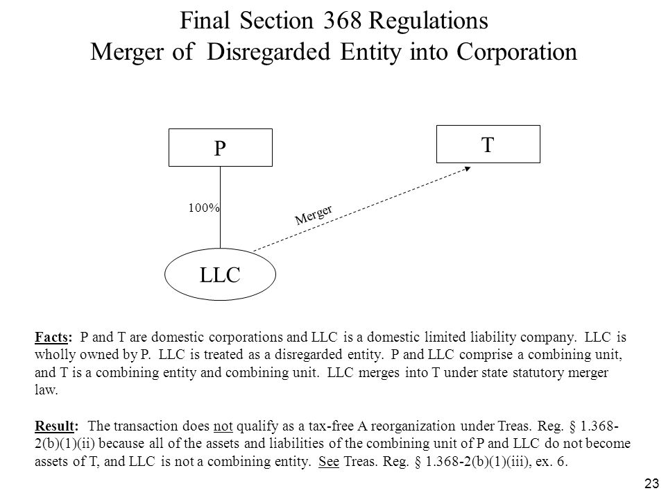Final Section 368 Regulations