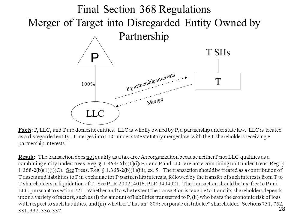 P Final Section 368 Regulations