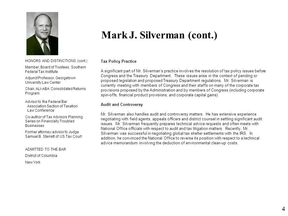 Mark J. Silverman (cont.)