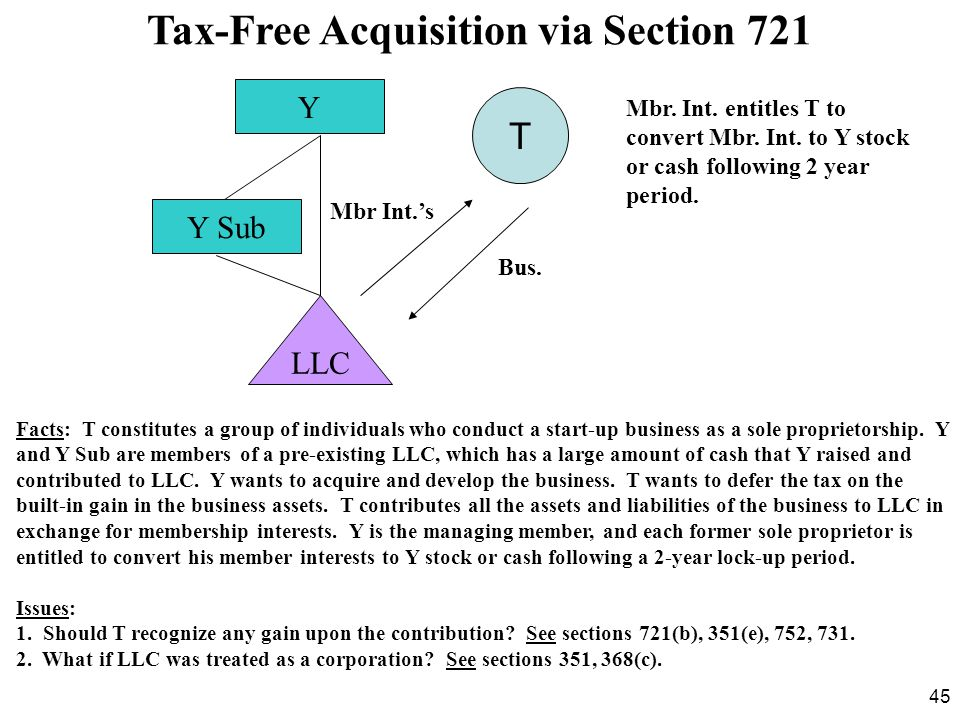 Tax-Free Acquisition via Section 721