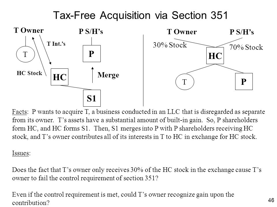 Tax-Free Acquisition via Section 351