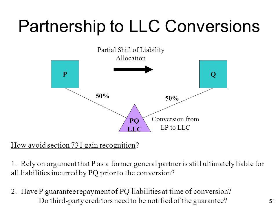 Partnership to LLC Conversions