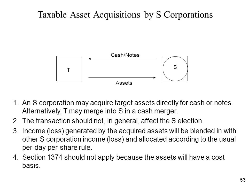 Taxable Asset Acquisitions by S Corporations