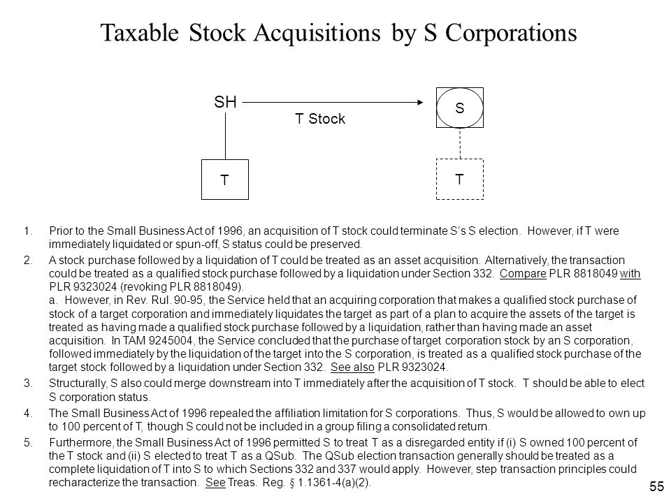 Taxable Stock Acquisitions by S Corporations