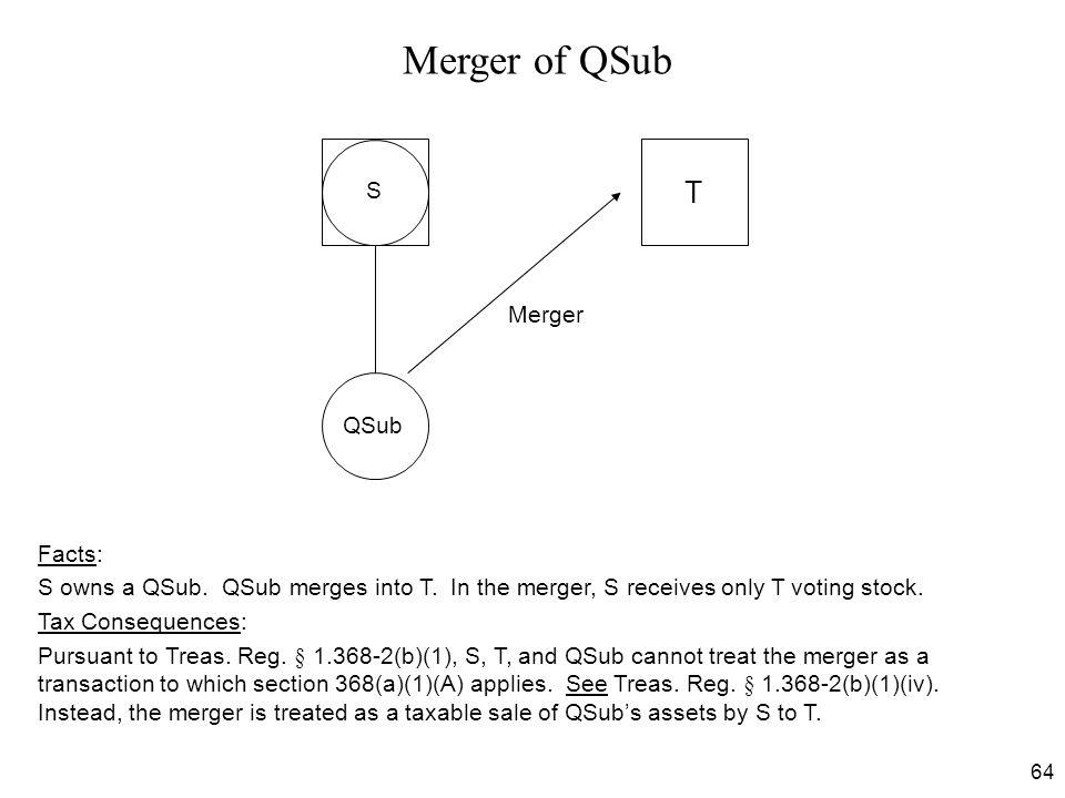 Merger of QSub T S Merger QSub Facts: