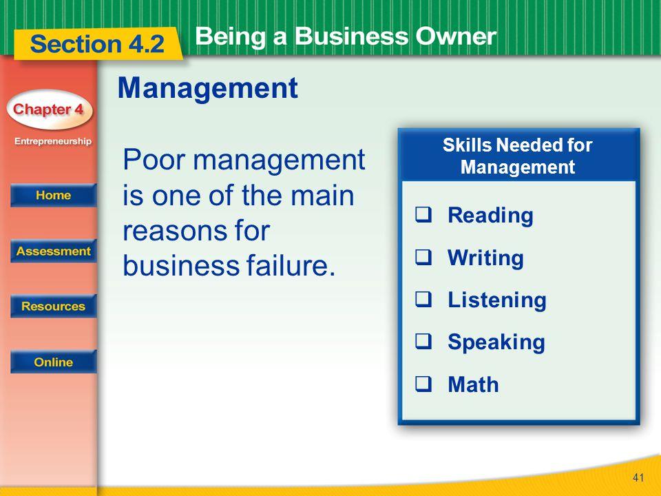 Skills Needed for Management