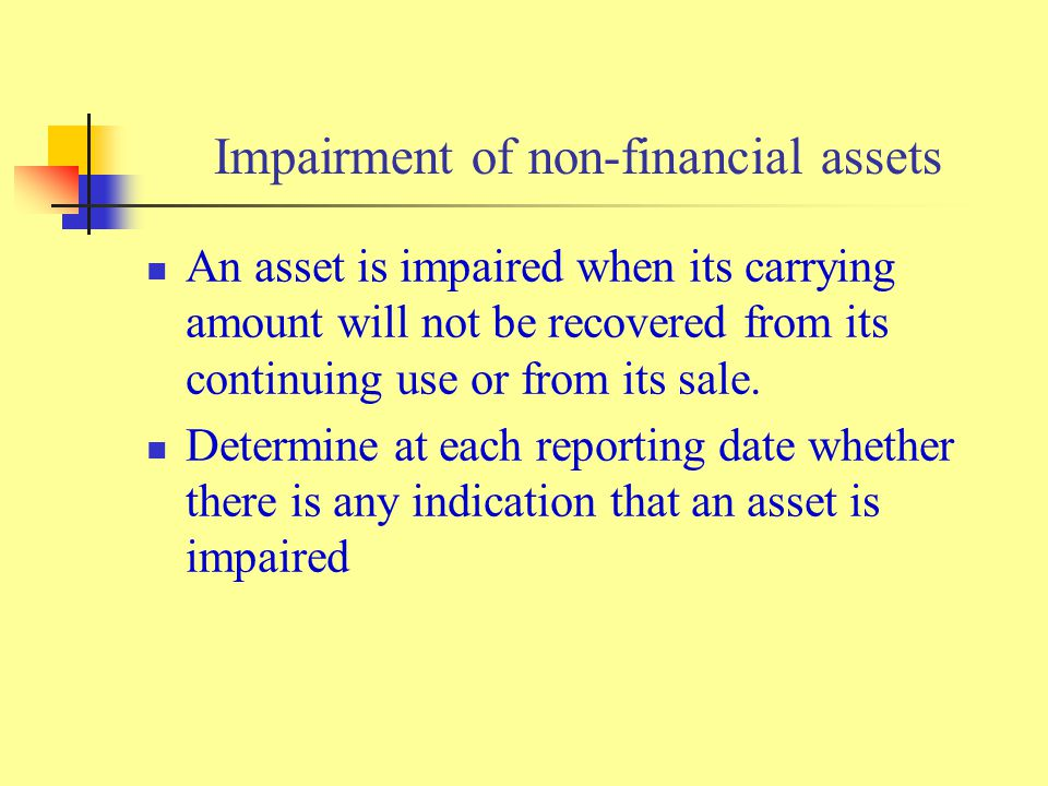 Impairment of non-financial assets
