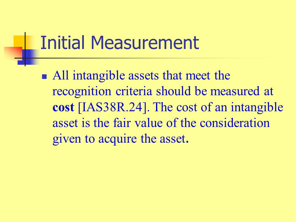Initial Measurement