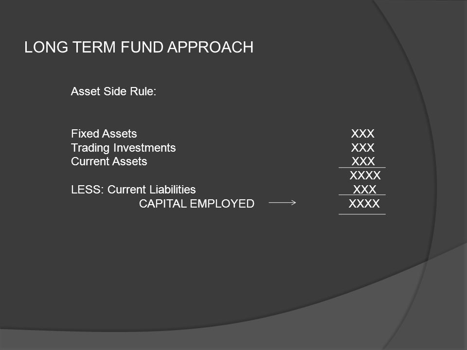 LONG TERM FUND APPROACH