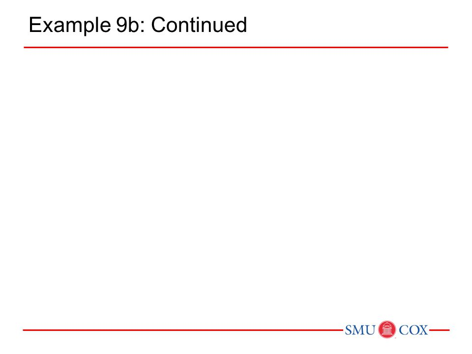 Example 9b: Continued