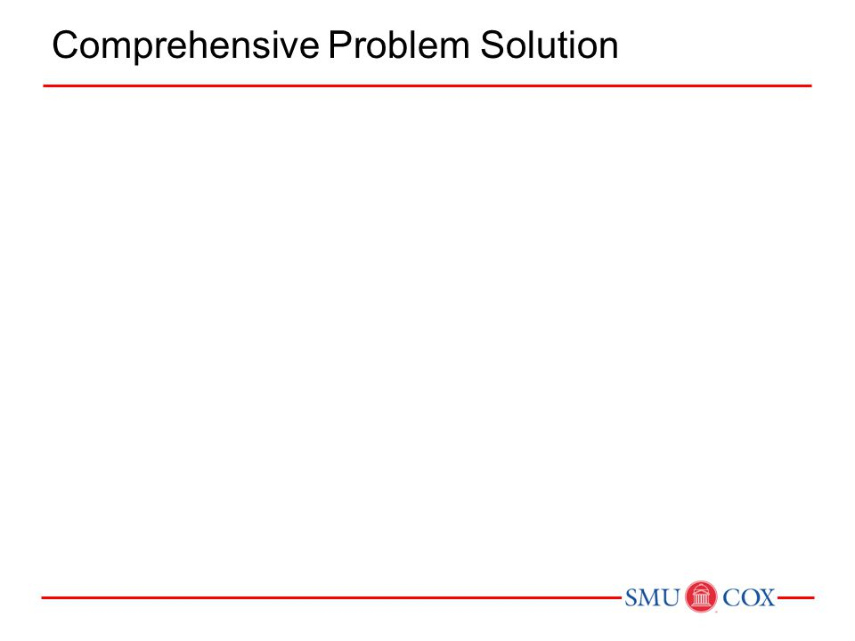 Comprehensive Problem Solution