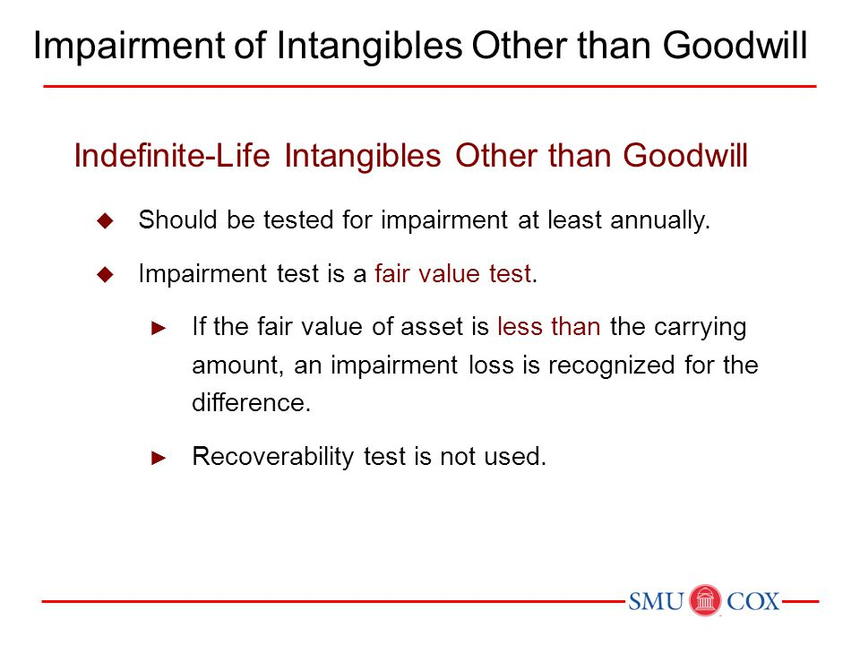 Impairment of Intangibles Other than Goodwill