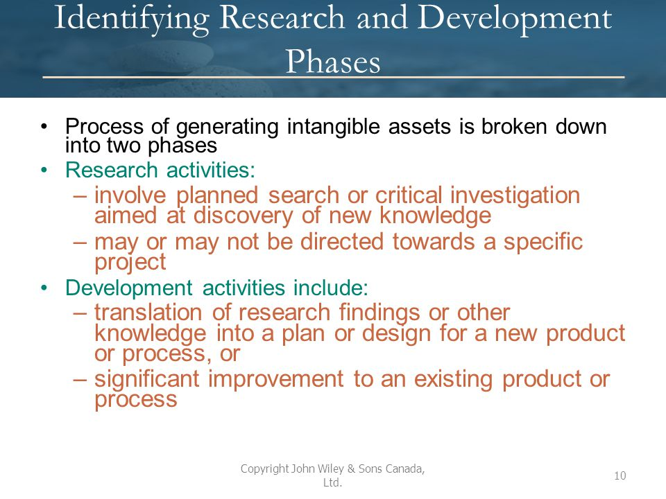 Identifying Research and Development Phases
