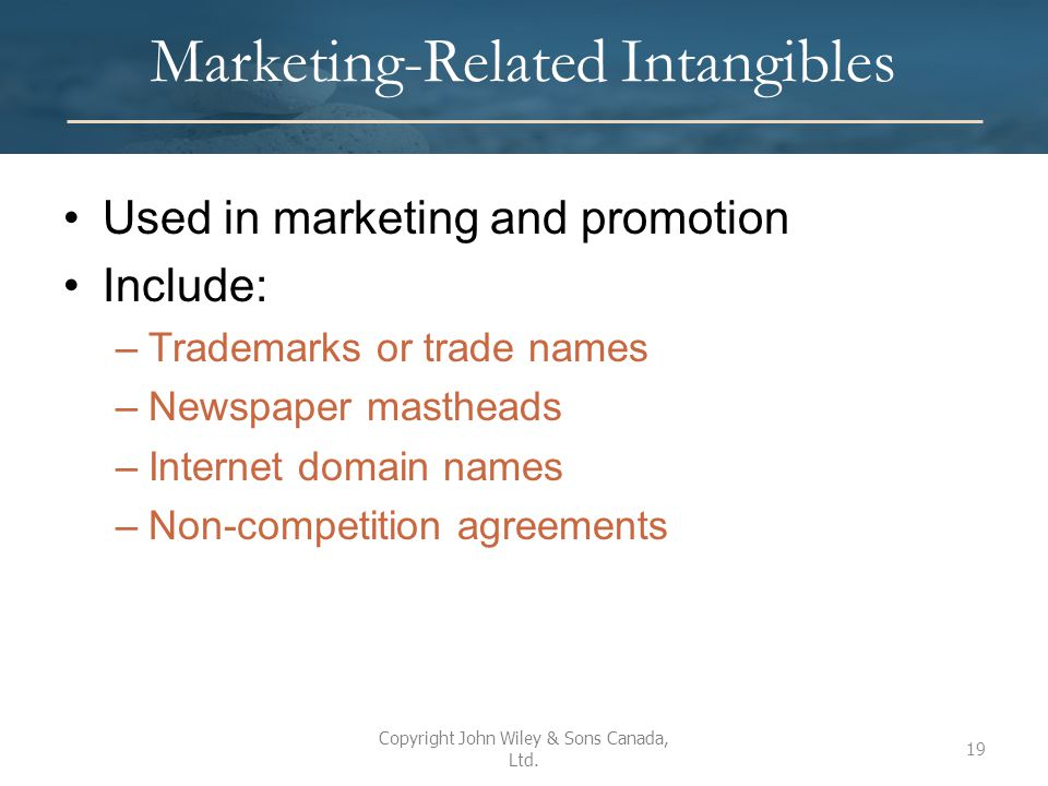 Marketing-Related Intangibles