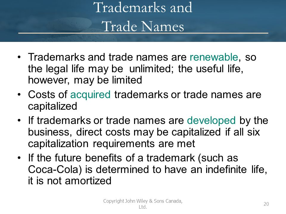 Trademarks and Trade Names