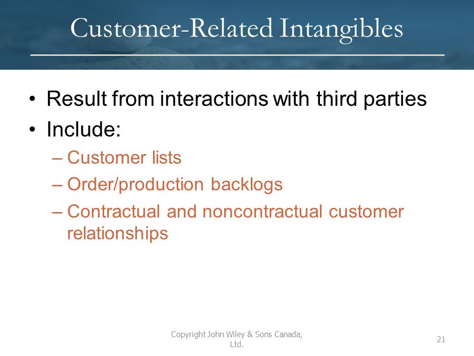 Customer-Related Intangibles