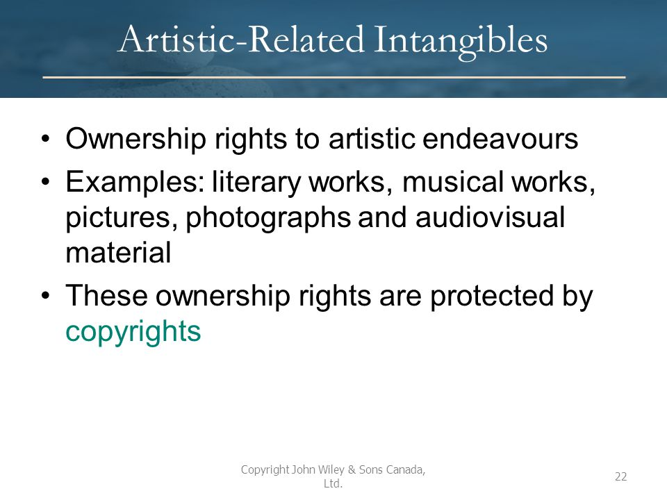 Artistic-Related Intangibles
