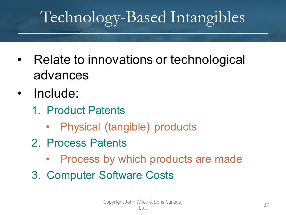 Technology-Based Intangibles