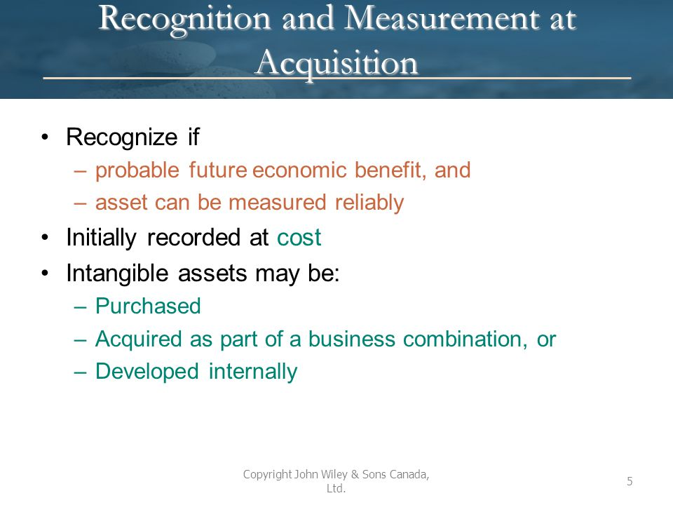 Recognition and Measurement at Acquisition
