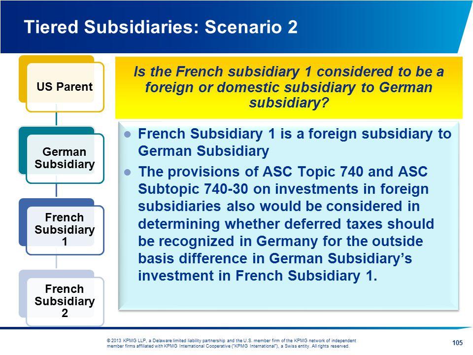 Tiered Subsidiaries: Scenario 2