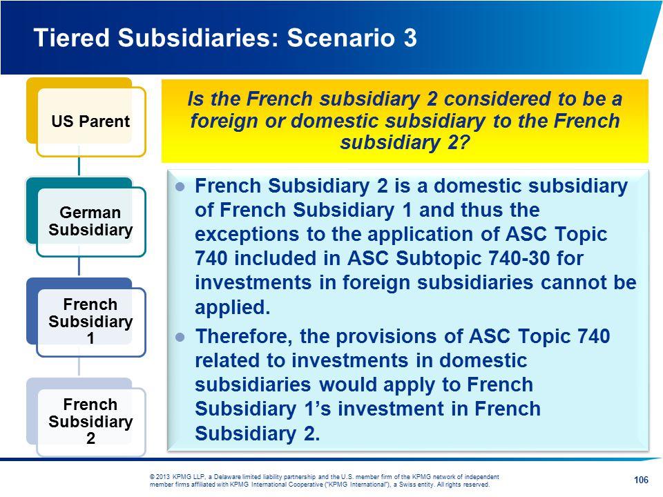 Tiered Subsidiaries: Scenario 3