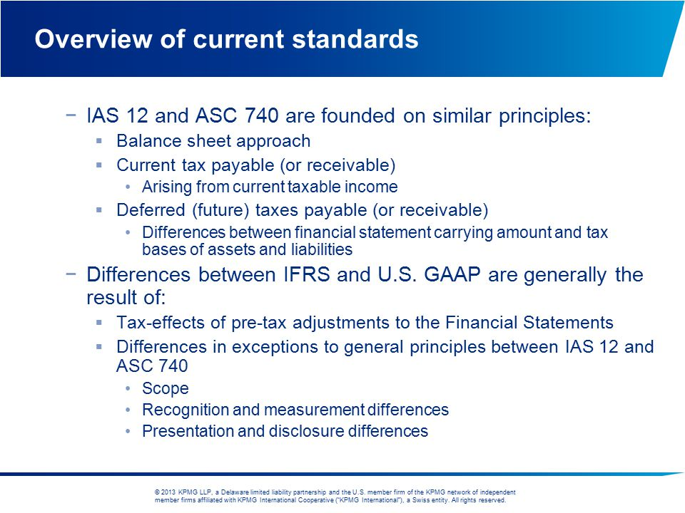 Overview of current standards