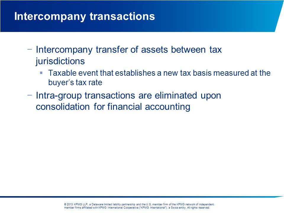 Intercompany transactions