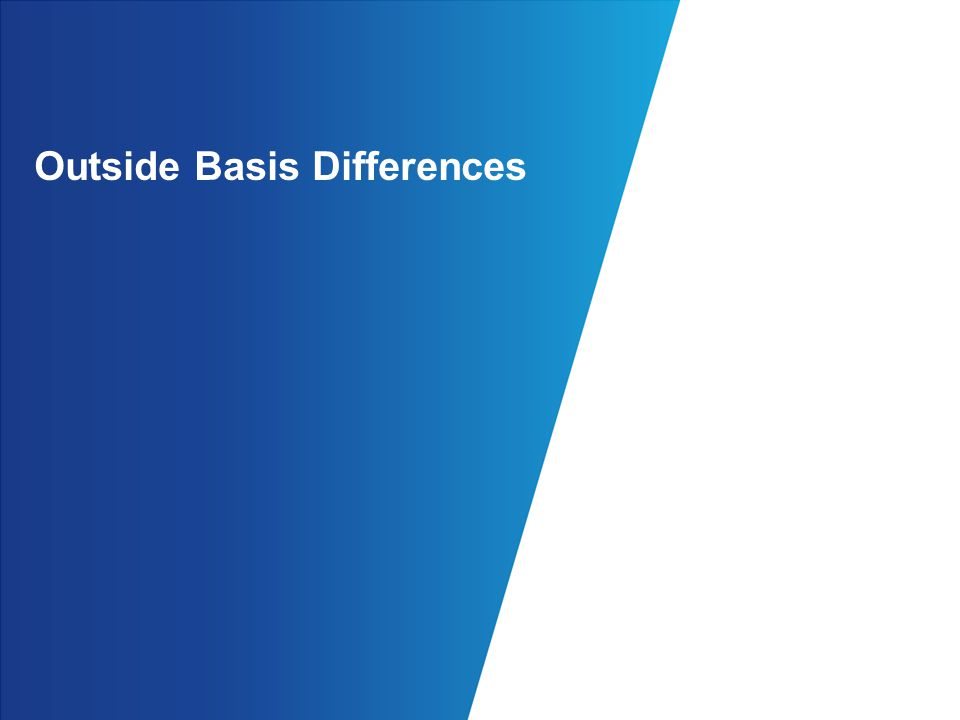 Outside Basis Differences