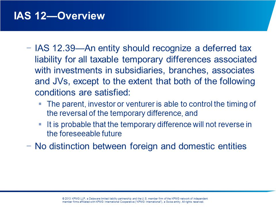 IAS 12—Overview