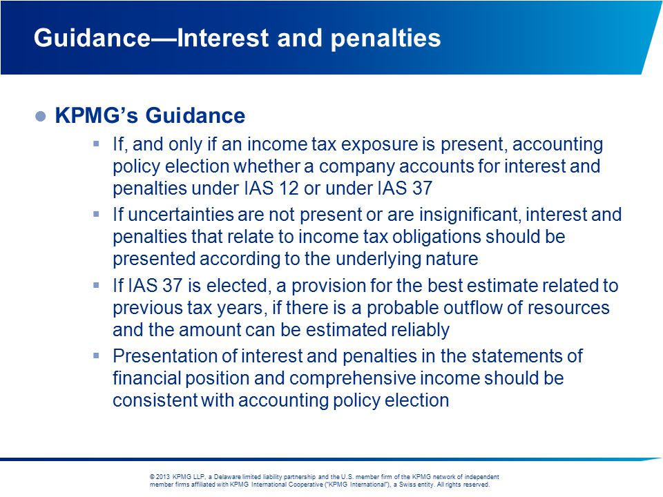 Guidance—Interest and penalties