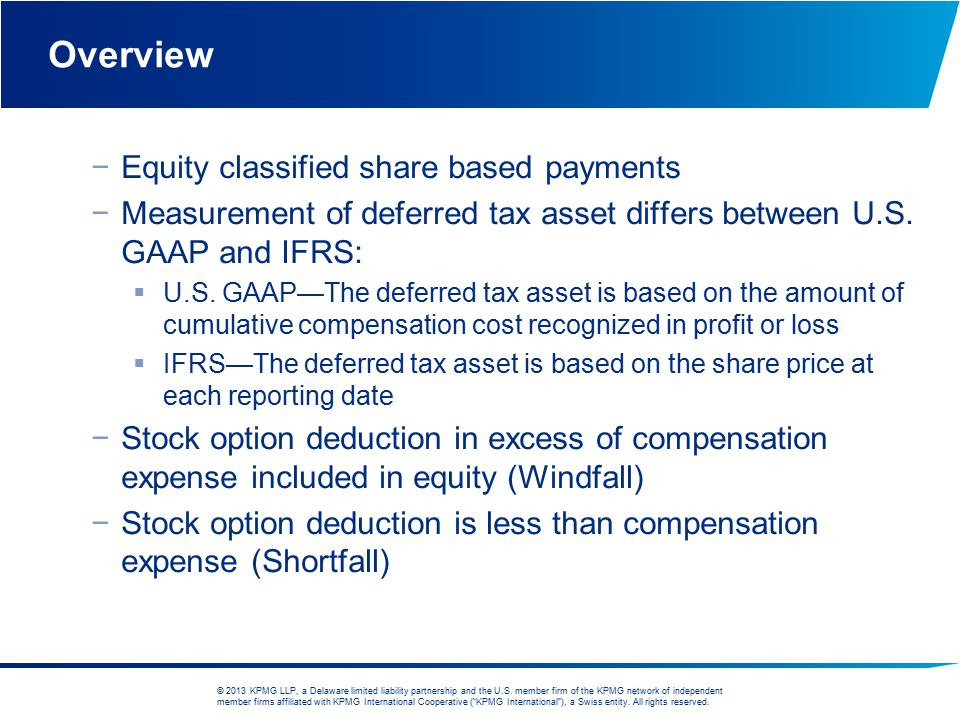 Overview Equity classified share based payments